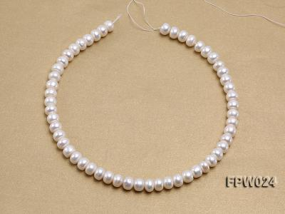 Wholesale 8.5x10mm Classic White Flat Cultured Freshwater Pearl String FPW024 Image 3
