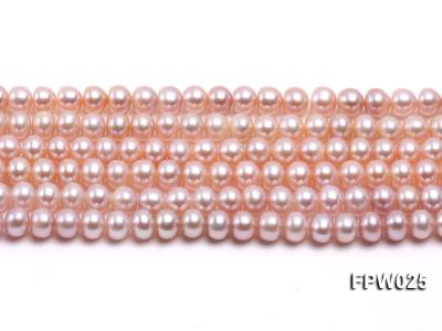 Wholesale 6x7mm Pink Flat Cultured Freshwater Pearl String FPW025 Image 2