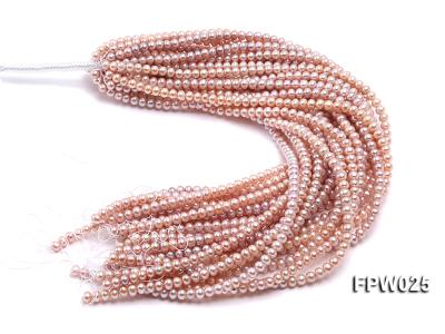 Wholesale 6x7mm Pink Flat Cultured Freshwater Pearl String FPW025 Image 3