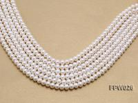 Wholesale 7.5x9.5mm White Flat Cultured Freshwater Pearl String FPW026