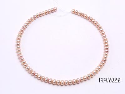 Wholesale 6x8mm Pink & Lavender Flat Cultured Freshwater Pearl String FPW029 Image 3