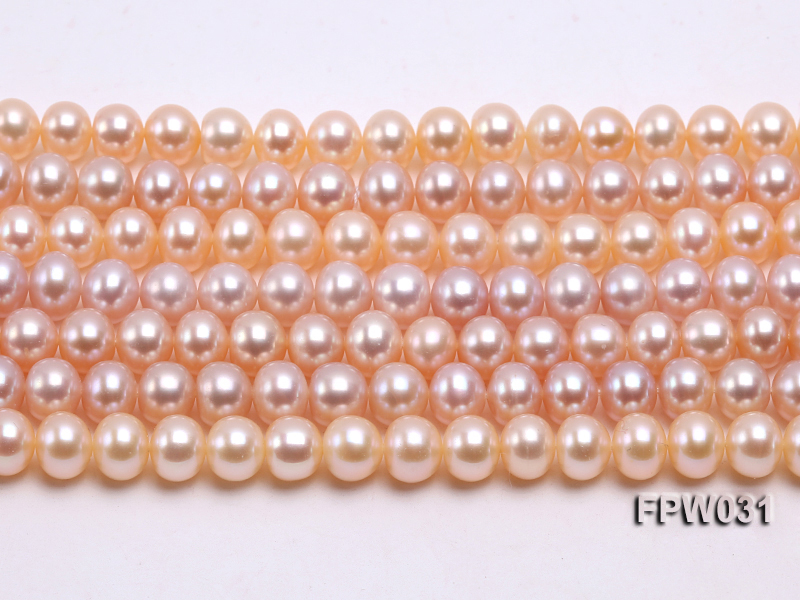 Wholesale 7x8mm Pink & Lavender Flat Cultured Freshwater Pearl String big Image 2