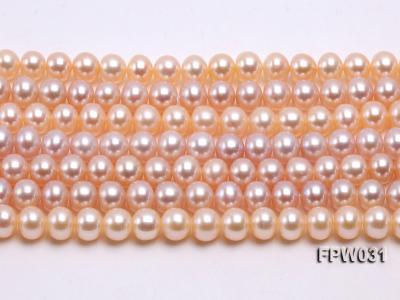 Wholesale 7x8mm Pink & Lavender Flat Cultured Freshwater Pearl String FPW031 Image 2