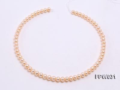 Wholesale 7x8mm Pink & Lavender Flat Cultured Freshwater Pearl String FPW031 Image 3