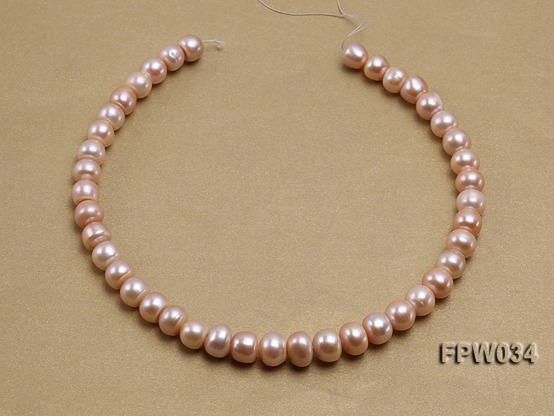 Wholesale Super-quality 10-12mm Flat Cultured Freshwater Pearl String big Image 3