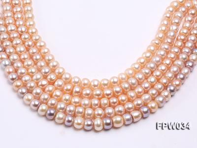 Wholesale Super-quality 10-12mm Flat Cultured Freshwater Pearl String FPW034 Image 1