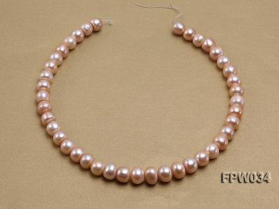 Wholesale Super-quality 10-12mm Flat Cultured Freshwater Pearl String FPW034 Image 3