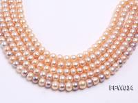 Wholesale Super-quality 10-12mm Flat Cultured Freshwater Pearl String FPW034