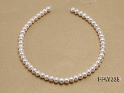 Wholesale 8.5x10mm White and Pink Flat Freshwater Pearl String FPW035 Image 3