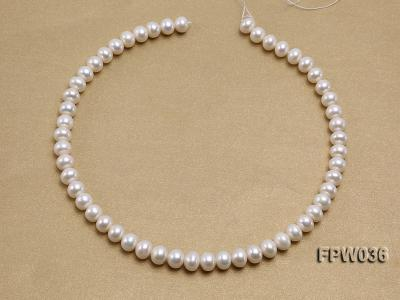 Wholesale High-quality 8.5x10mm White Flat Freshwater Pearl String FPW036 Image 3