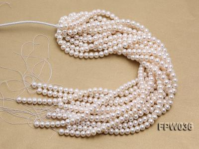 Wholesale High-quality 8.5x10mm White Flat Freshwater Pearl String FPW036 Image 4