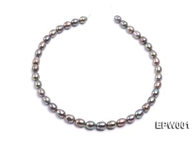 Wholesale 9X11mm Black Rice-shaped Freshwater Pearl String  EPW001 Image 3