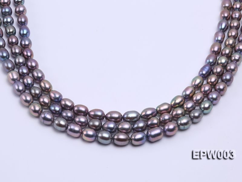 Wholesale High-quality 8X12mm Rice-shaped Freshwater Pearl String big Image 2