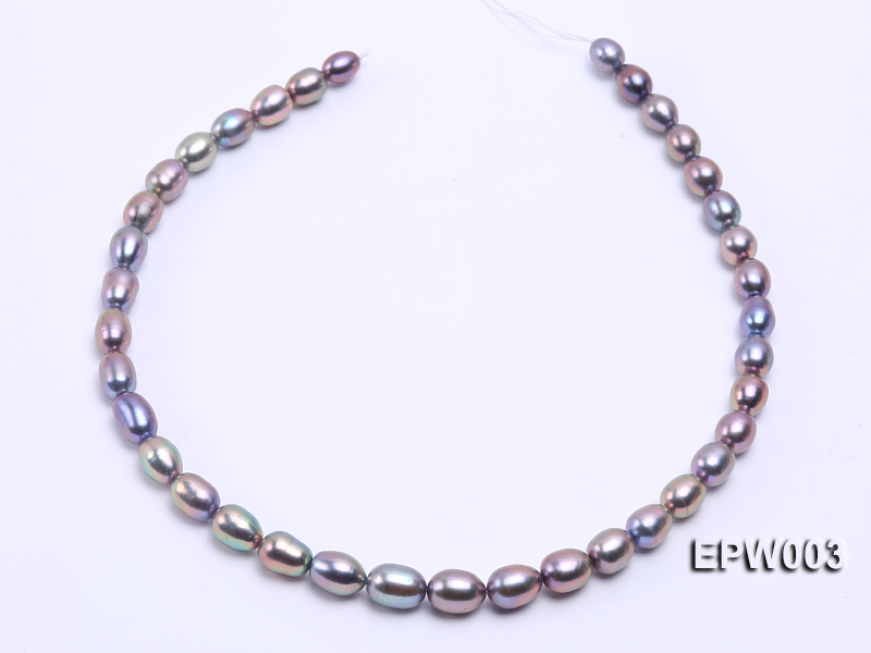 Wholesale High-quality 8X12mm Rice-shaped Freshwater Pearl String big Image 3