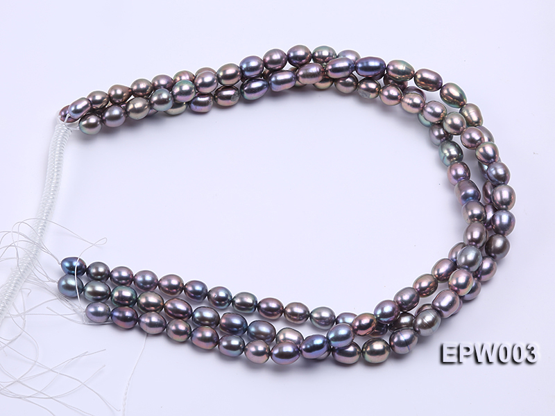 Wholesale High-quality 8X12mm Rice-shaped Freshwater Pearl String big Image 4