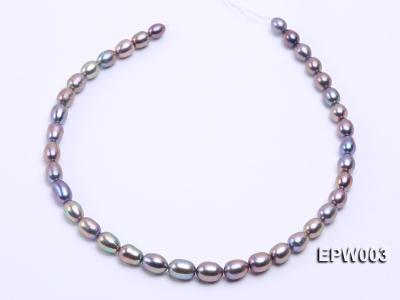Wholesale High-quality 8X12mm Rice-shaped Freshwater Pearl String EPW003 Image 3