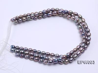 Wholesale High-quality 8X12mm Rice-shaped Freshwater Pearl String EPW003 Image 4