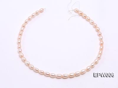 Wholesale 5.5-6.5mm High-quality Pink Rice-shaped Freshwater Pearl String EPW006 Image 3