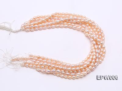 Wholesale 5.5-6.5mm High-quality Pink Rice-shaped Freshwater Pearl String EPW006 Image 4