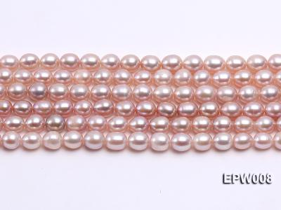 Wholesale High-quality 6.5-7.5mm Natural Lavender Rice-shaped Freshwater Pearl String EPW008 Image 2