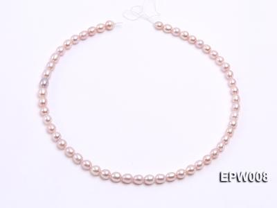 Wholesale High-quality 6.5-7.5mm Natural Lavender Rice-shaped Freshwater Pearl String EPW008 Image 3