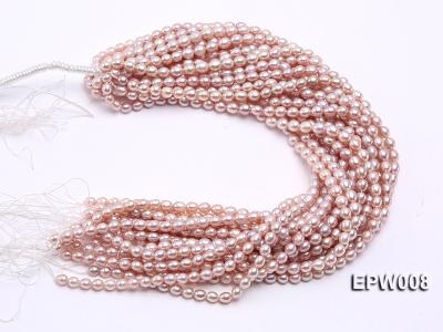 Wholesale High-quality 6.5-7.5mm Natural Lavender Rice-shaped Freshwater Pearl String EPW008 Image 4
