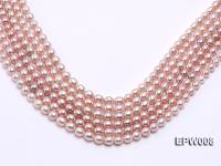 Wholesale High-quality 6.5-7.5mm Natural Lavender Rice-shaped Freshwater Pearl String EPW008