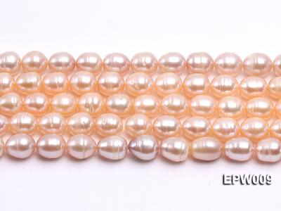 Wholesale 9x11mm pink  Rice-shaped Freshwater Pearl String EPW009 Image 2