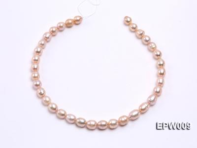 Wholesale 9x11mm pink  Rice-shaped Freshwater Pearl String EPW009 Image 3
