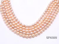 Wholesale 9x11mm pink  Rice-shaped Freshwater Pearl String EPW009