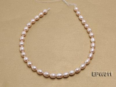 Wholesale 10X12mm Pink Rice-shaped Freshwater Pearl String EPW011 Image 3