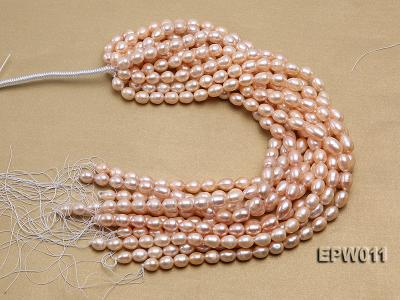Wholesale 10X12mm Pink Rice-shaped Freshwater Pearl String EPW011 Image 4