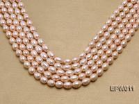 Wholesale 10X12mm Pink Rice-shaped Freshwater Pearl String EPW011