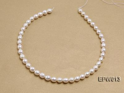 Wholesale Classic 8x9mm White Rice-shaped Freshwater Pearl String EPW013 Image 3