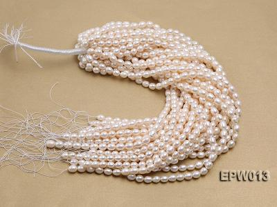 Wholesale Classic 8x9mm White Rice-shaped Freshwater Pearl String EPW013 Image 4