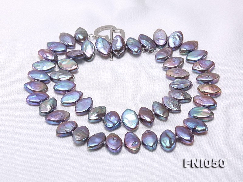 Classic 6.5x12.5mm Purple Seed-shaped Freshwater Pearl Necklace big Image 3