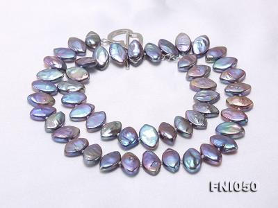 Classic 6.5x12.5mm Purple Seed-shaped Freshwater Pearl Necklace FNI050 Image 3