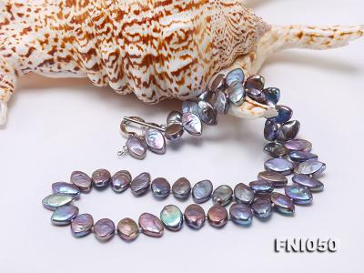 Classic 6.5x12.5mm Purple Seed-shaped Freshwater Pearl Necklace FNI050 Image 5