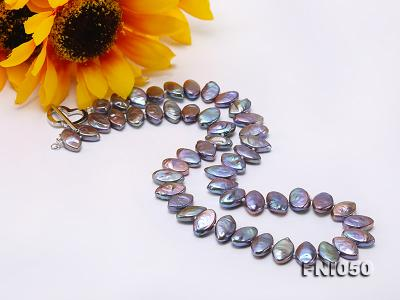 Classic 6.5x12.5mm Purple Seed-shaped Freshwater Pearl Necklace FNI050 Image 7