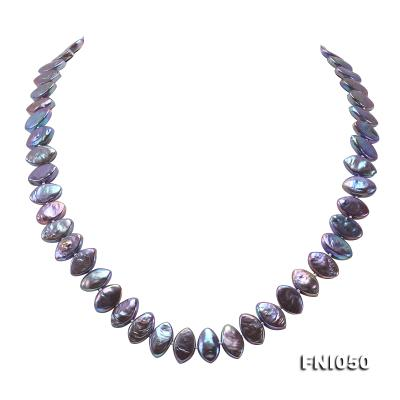 Classic 6.5x12.5mm Purple Seed-shaped Freshwater Pearl Necklace FNI050 Image 1