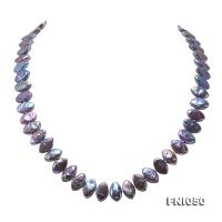 Classic 6.5x12.5mm Purple Seed-shaped Freshwater Pearl Necklace FNI050