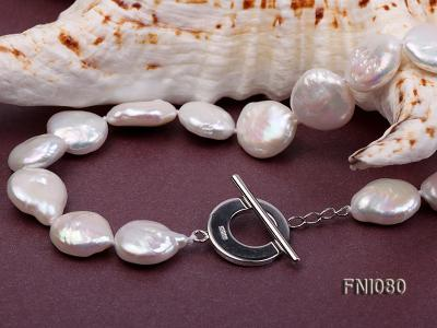 Classic 11-12mm White Button Freshwater Pearl Necklace FNI080 Image 7