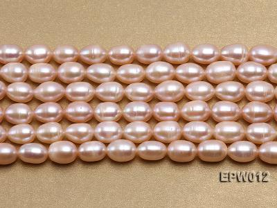 Wholesale 7.5X10.5mm Natural Pink Rice-shaped Freshwater Pearl String EPW012 Image 2