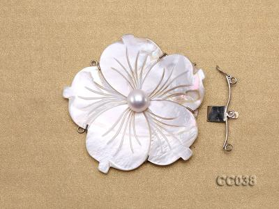 70mm Three-Row Sterling Silver Shell Clasp CC038 Image 3