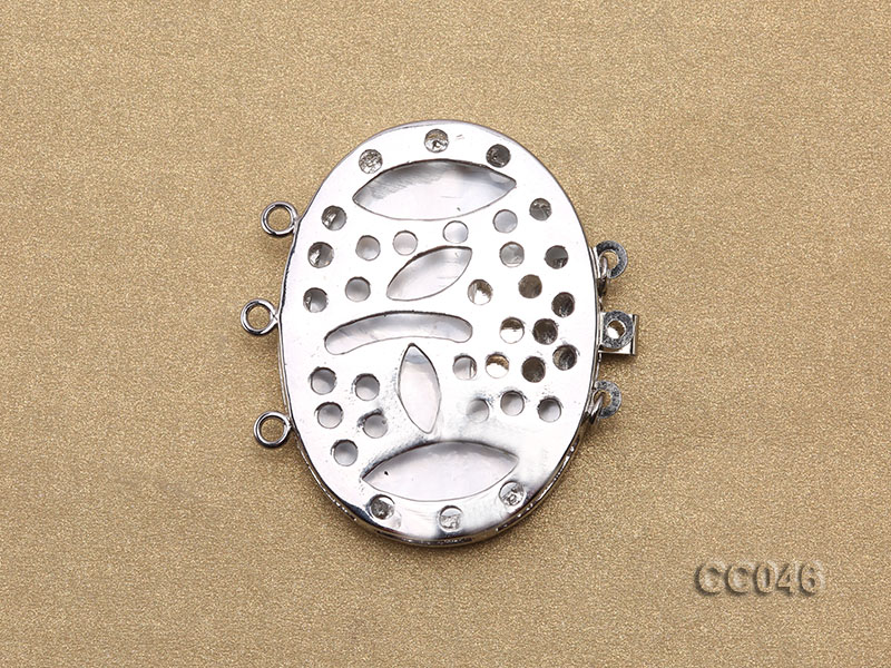 30x40mm Three-Row Shell Clasp big Image 2