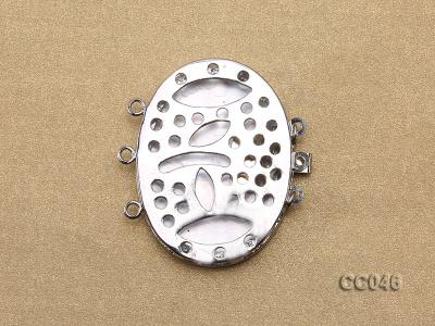 30x40mm Three-Row Shell Clasp CC046 Image 2