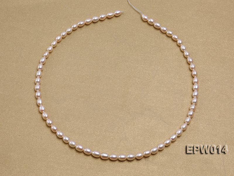 Wholesale 5x6.5mm Pink & Lavender Rice-shaped Freshwater Pearl String big Image 3