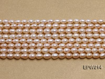 Wholesale 5x6.5mm Pink & Lavender Rice-shaped Freshwater Pearl String EPW014 Image 2