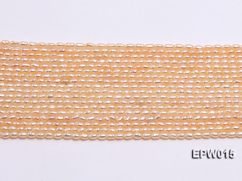 Wholesale 2.5x3mm  Rice-shaped Freshwater Pearl String big Image 2
