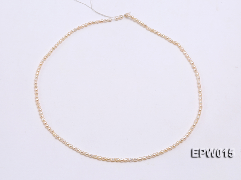 Wholesale 2.5x3mm  Rice-shaped Freshwater Pearl String big Image 3